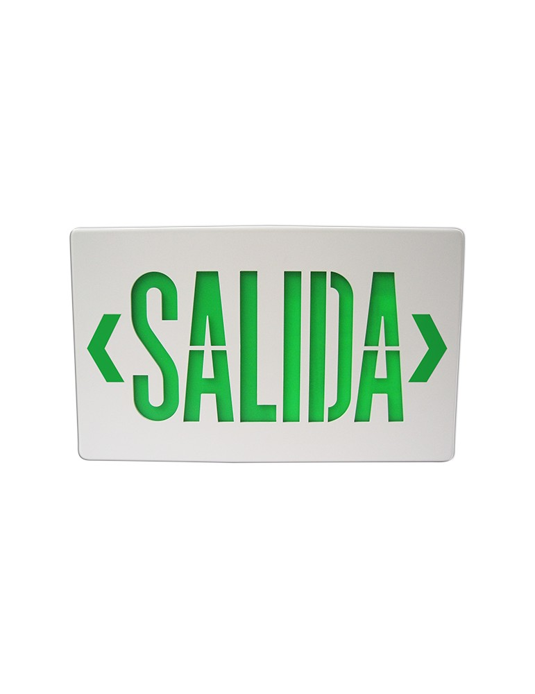 LETRERO SALIDA VERDE 2.5W, 120-277Vca