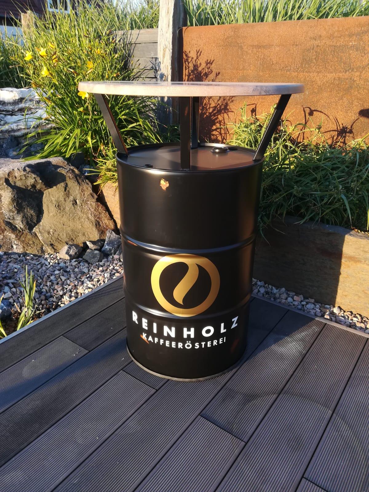 Kundenauftrag Reinholz Kaffeerösterei - Optik mit Roststellen