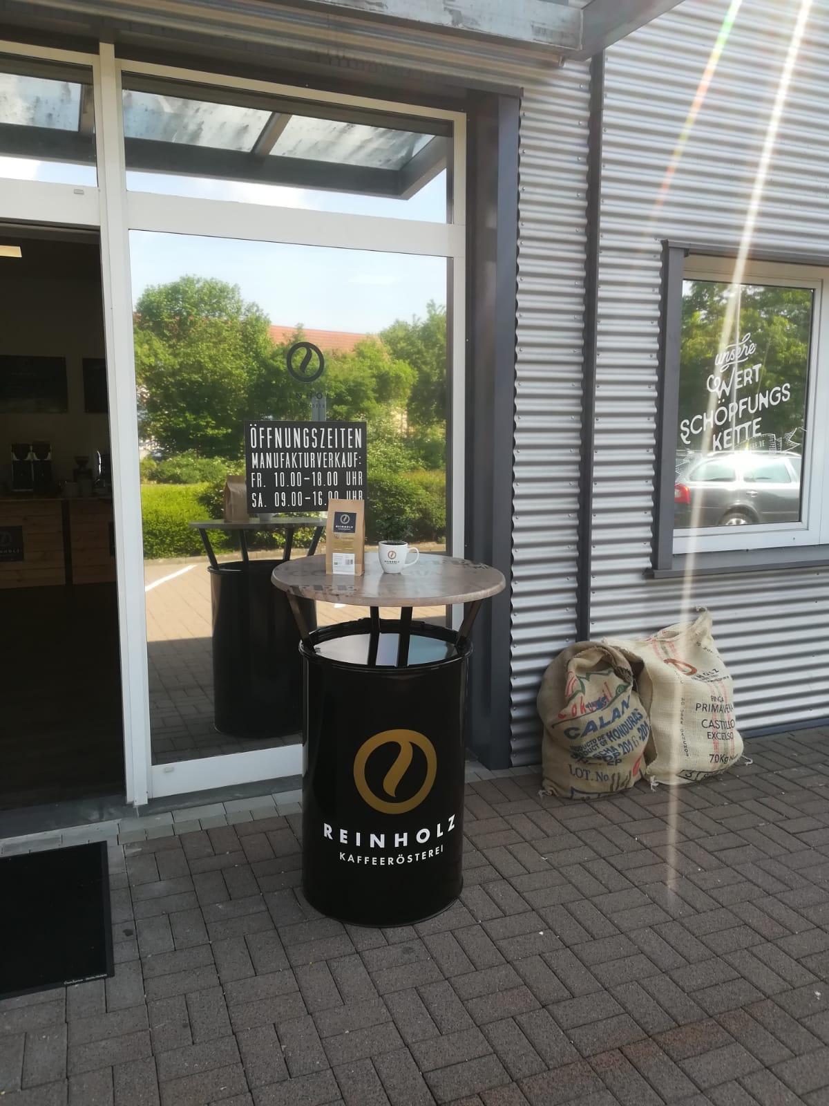 Messestehtisch für die Kaffeerösterei Reinholz aus Fulda