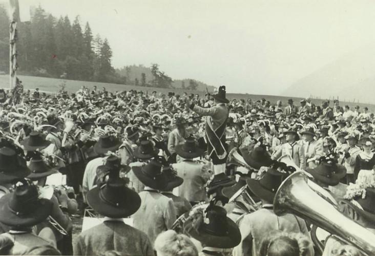 Bezirksmusikfest 1952 in Aschau