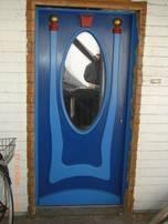 Haustür mit Spiegel