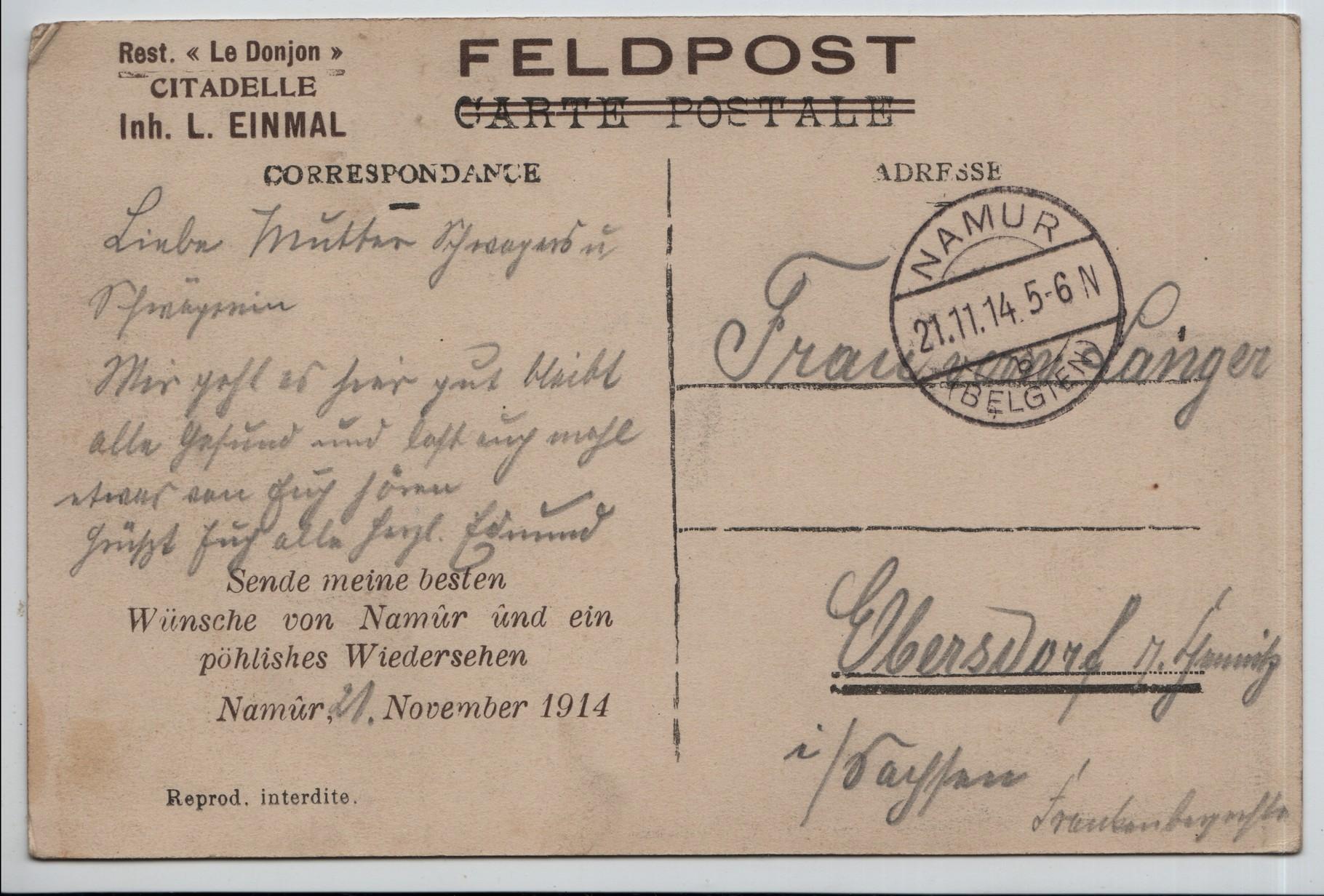 18. 21st Nov 1914