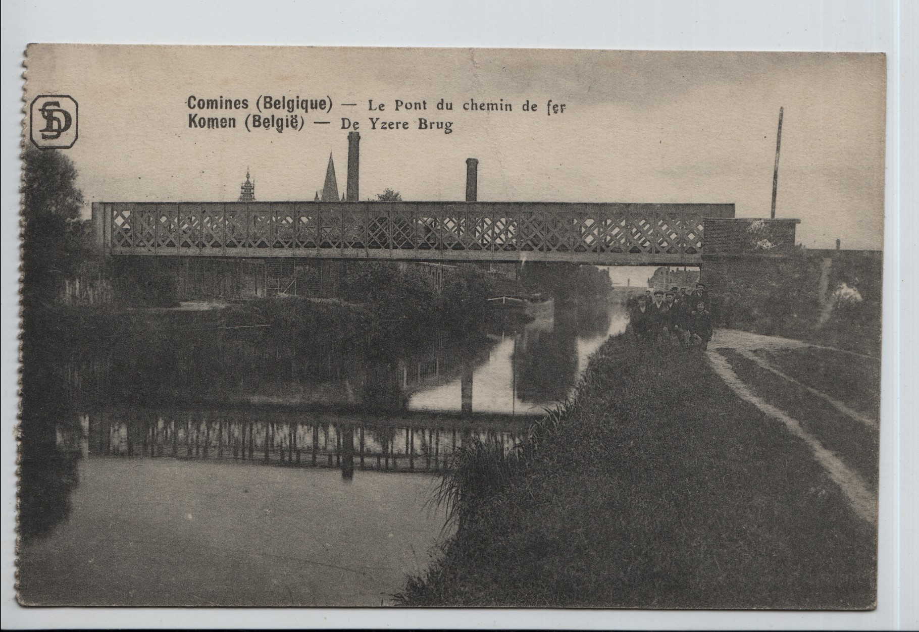 8. Railway bridge at Comines