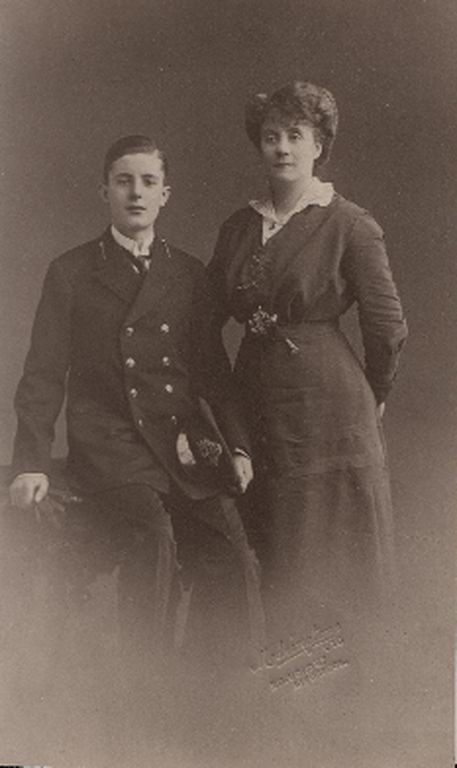 Charles with his mother, Beatrice Heffernan