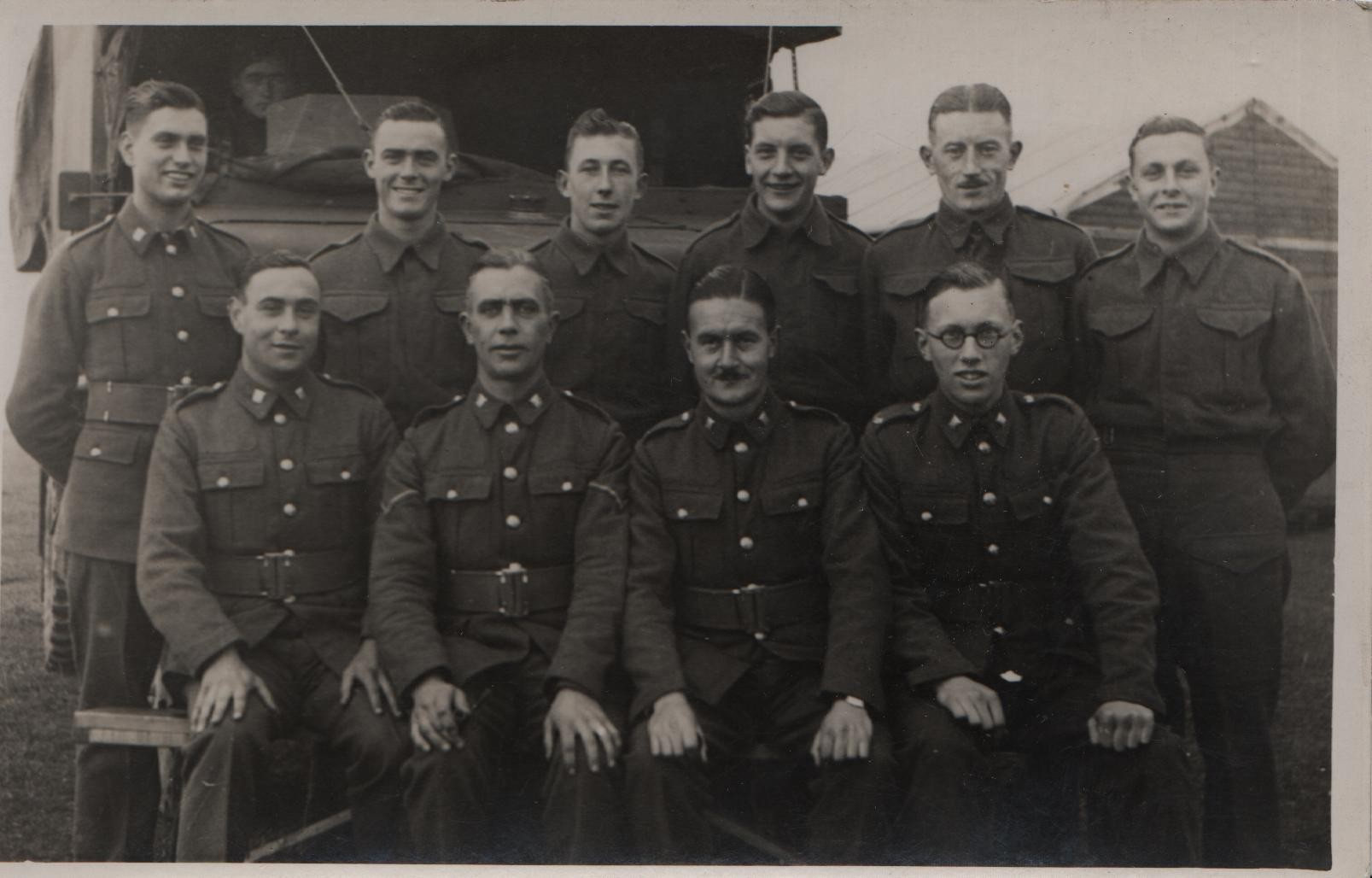 1939 Burnham Market 2nd/6th Bttn Essex Regiment Territorials: DL front far right