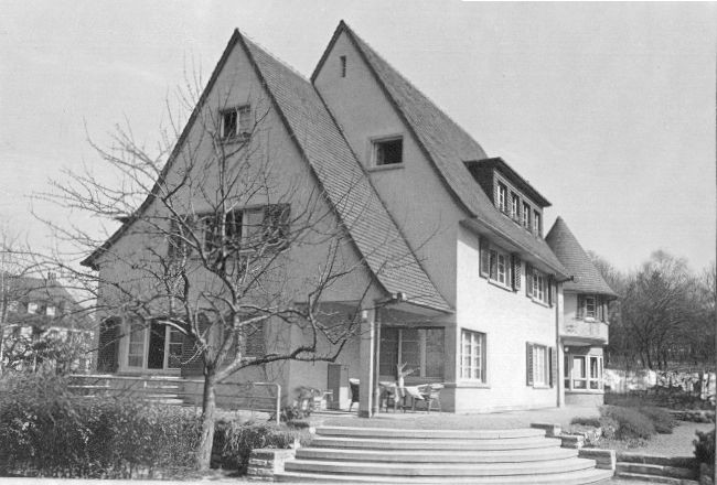 The Arndt house in Darmstadt circa 1933. It has survived more or less intact to this day.