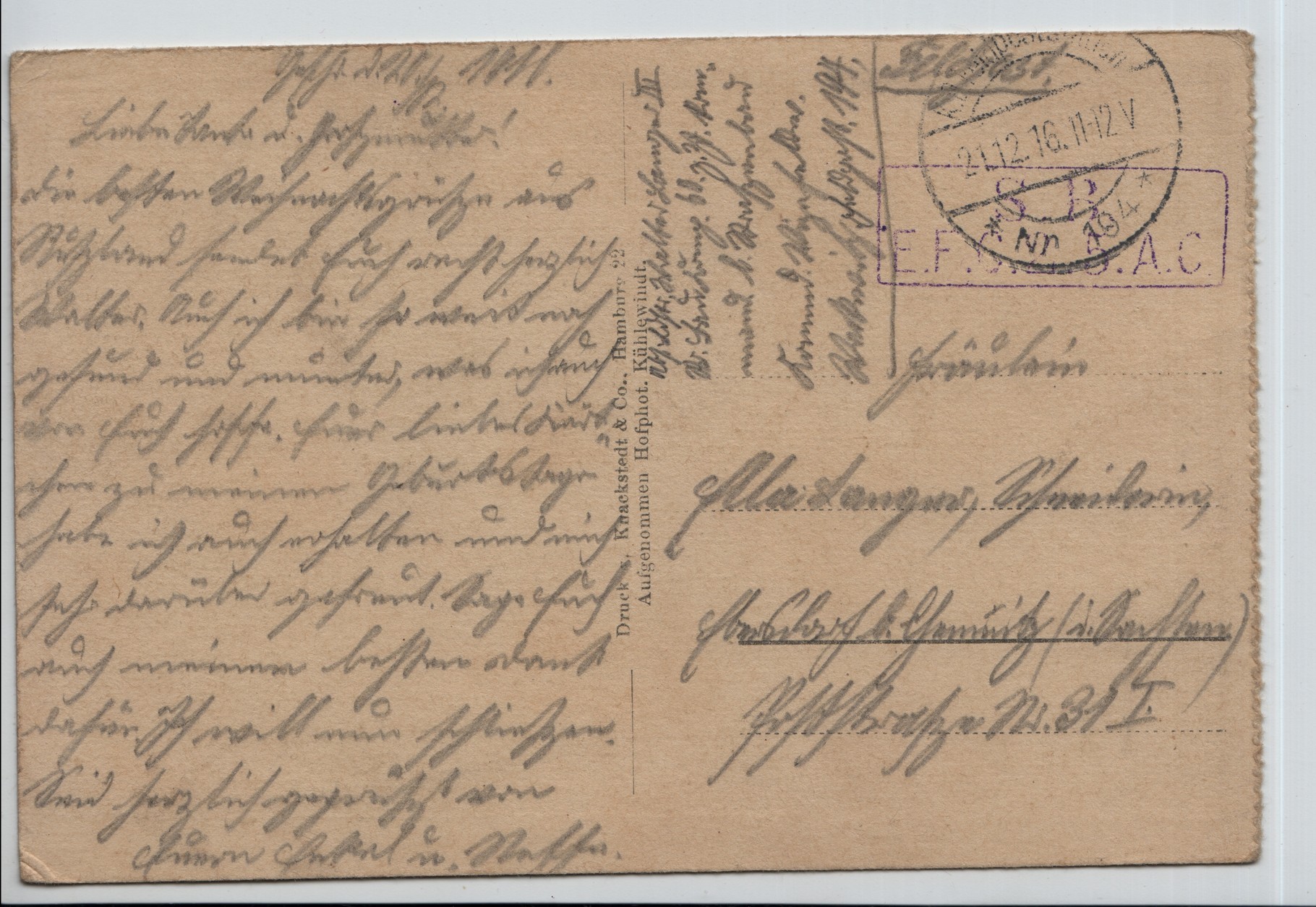 20. 21st Dec 1916