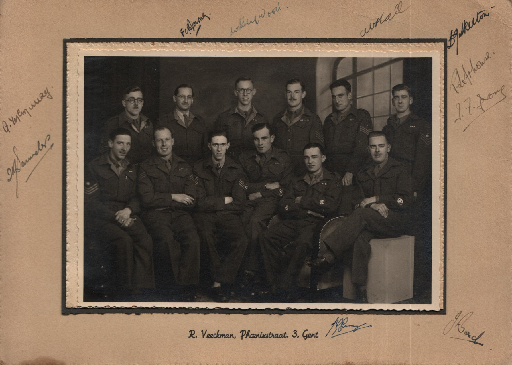 Technical Sergeants Mess REME in Ghent. Last unit David was in during the war. They came back to Aldershot and were demobilised. This photo taken at the end of the war.