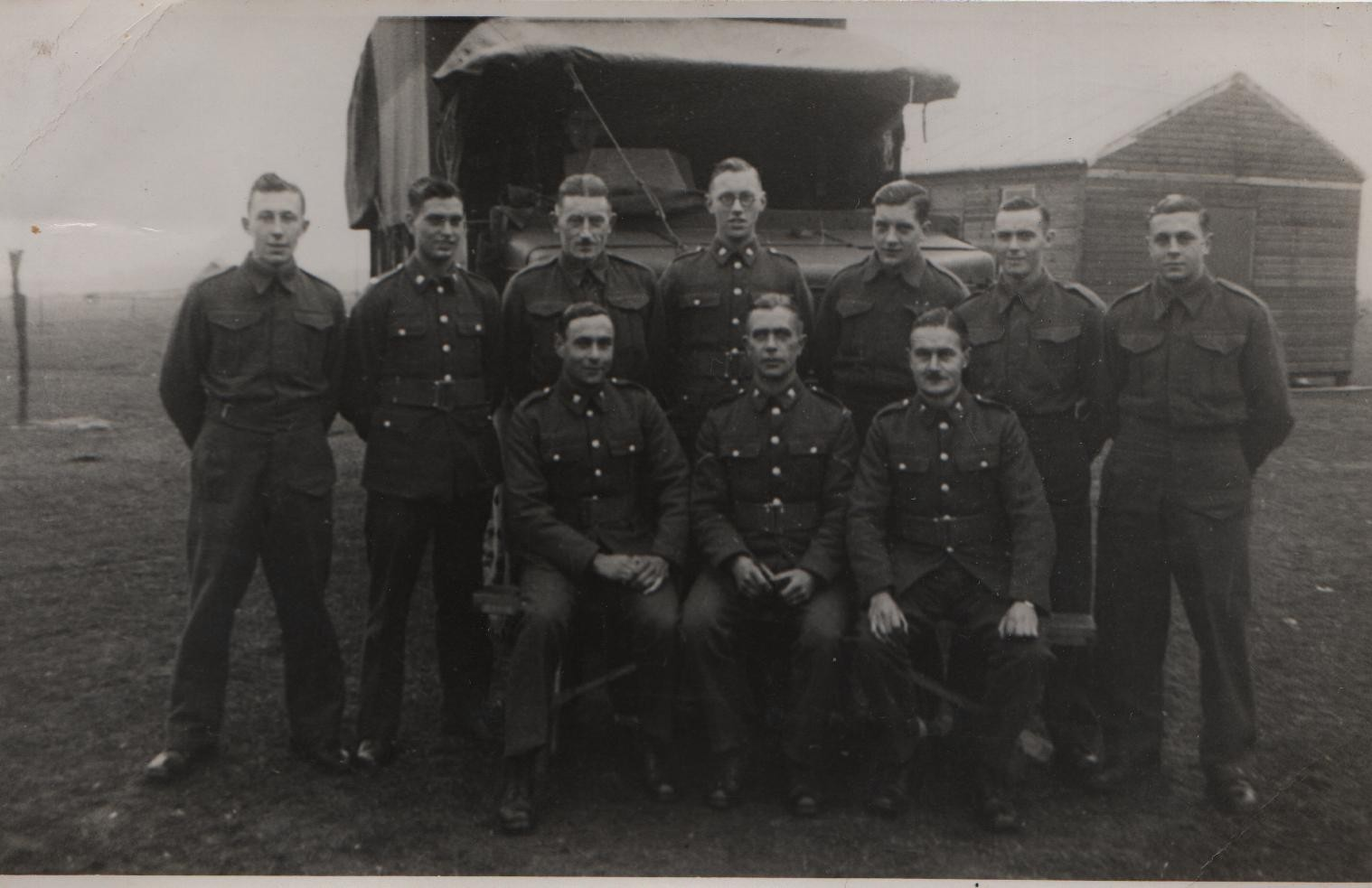 1939 Burnham Market 2nd/6th Bttn Essex Regiment Territorials: DL back centre