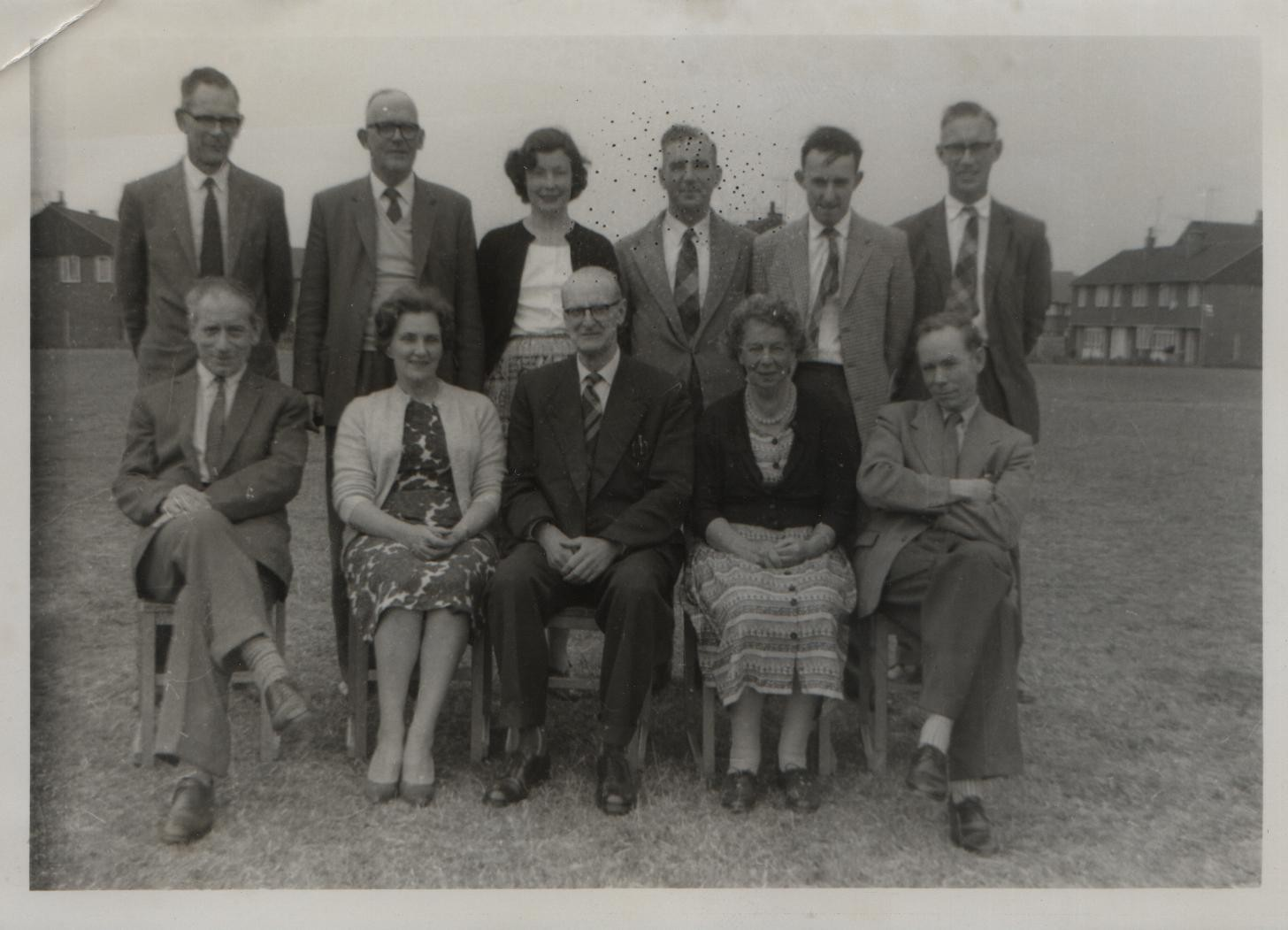 Staff of Hamstel Road Primary School 1960 (David back far right)