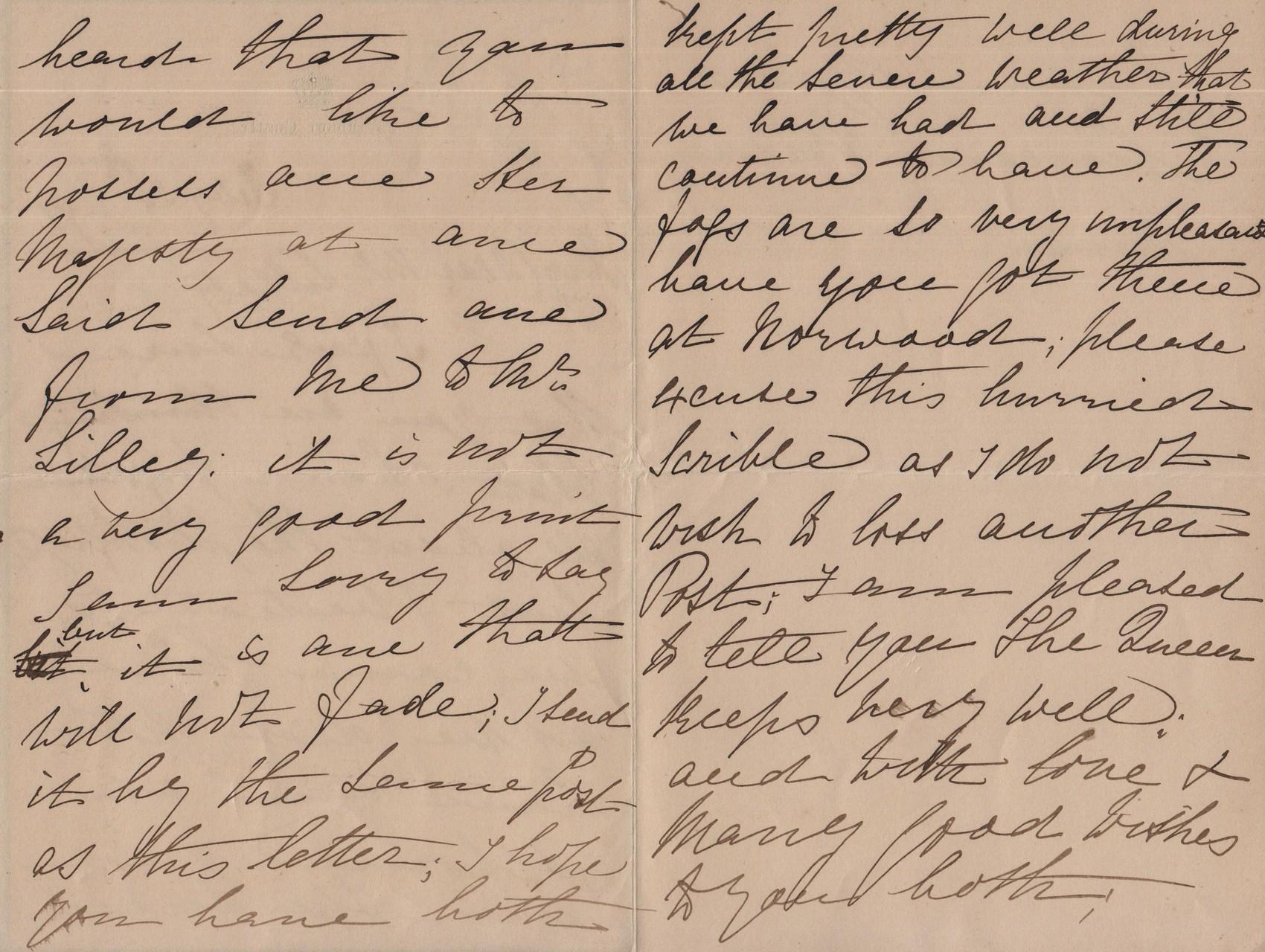 1891 February 21st JHL to AMcD