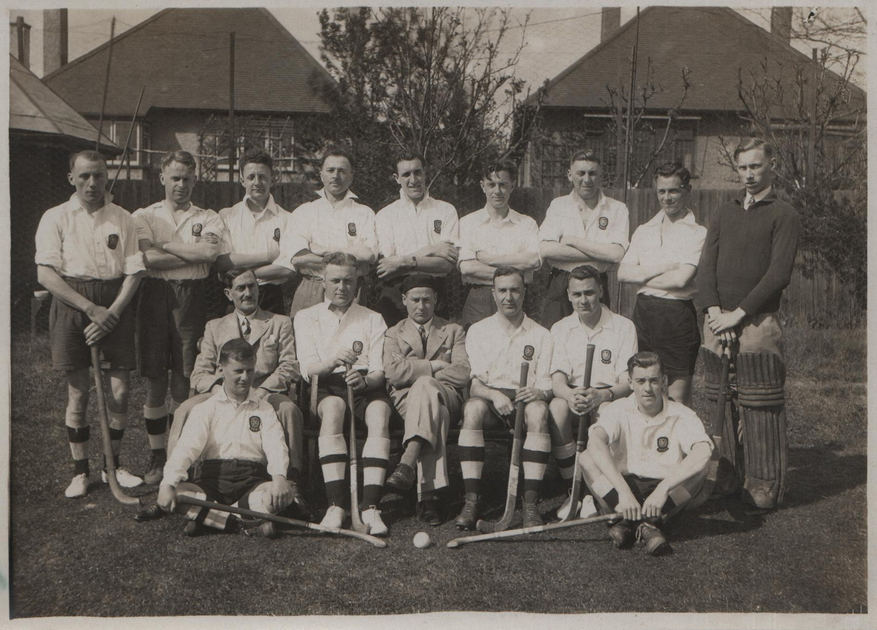 1938 Borough Treasurer's NALGO hockey team, David far right