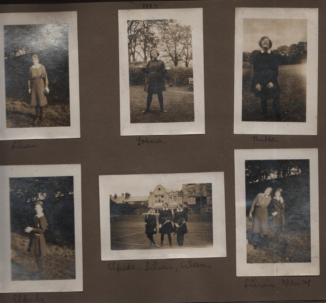 1923: Lilian; Johma; Hutton; Elfreda; Elfreda, Lilian, Eileen; Lilian, Nancy