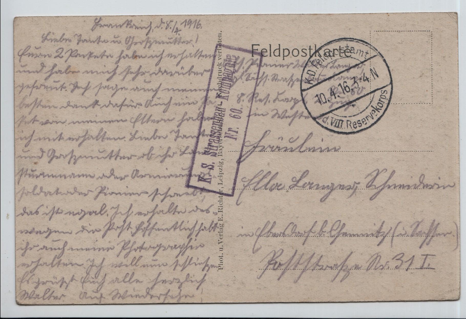 16. 10th Apr 1916