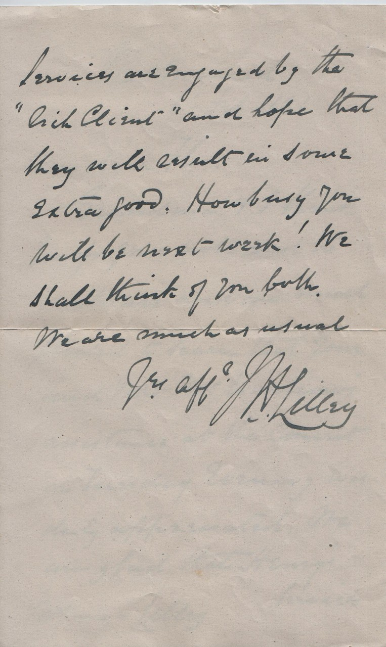 1891 February 6th JHL to Flo (grandson's wife)