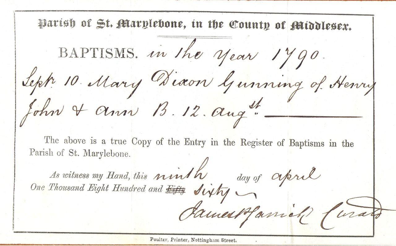 1790 baptism