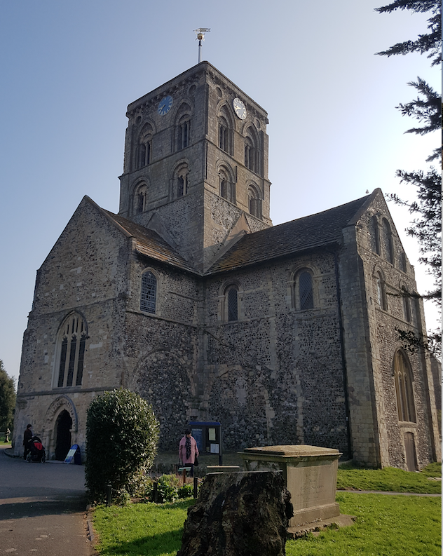 St Mary New Shoreham begun c. 1130. Old nave was demolished in 17th leaving crossing and transepts of c. 1130 and the choir of c.1180.