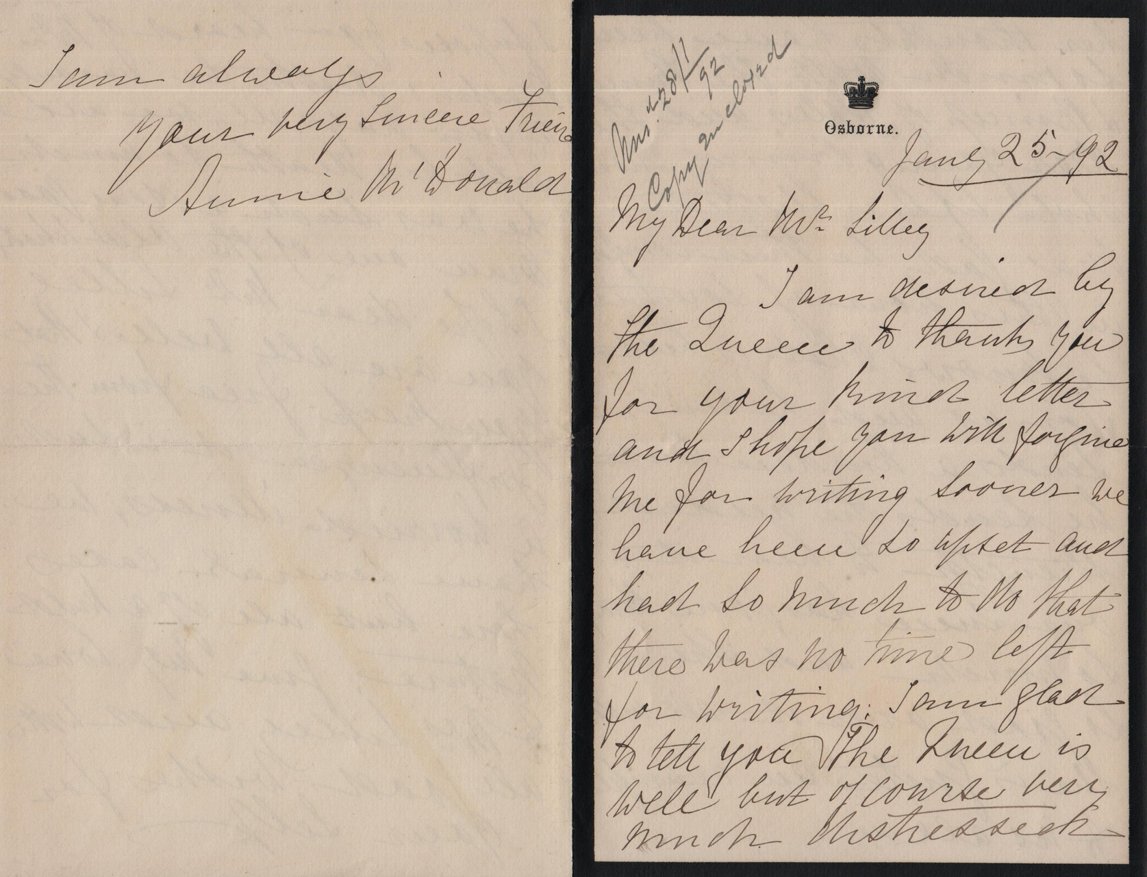 1892 June 25th AMcD to JHL