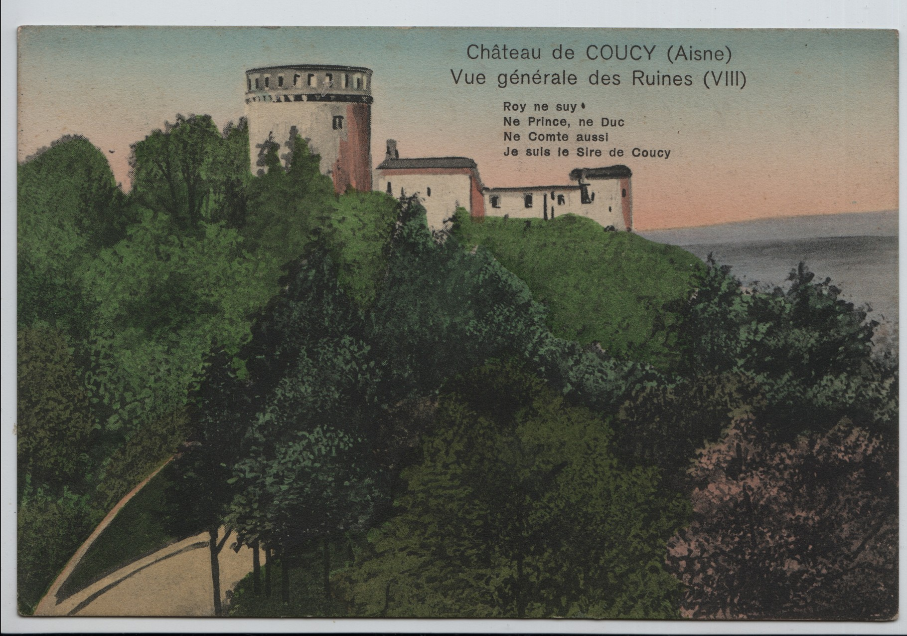 1. Chateau de Coucy on the river Aisne