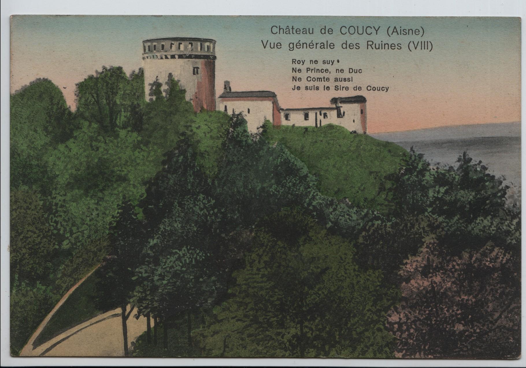 1. Chateau de Coucy on the river Aisne