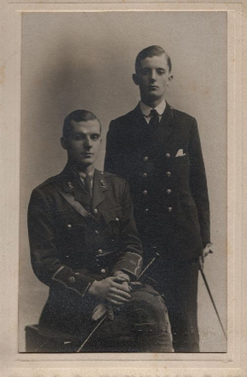 Charles with his brother, F C H Sergeant