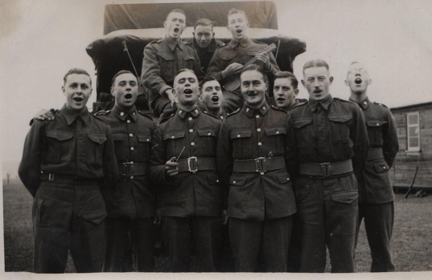 1939 Burnham Market 2nd/6th Bttn Essex Regiment Territorials Top far left Ernie Pickstay; front third from left Charlie Smith, DL far right