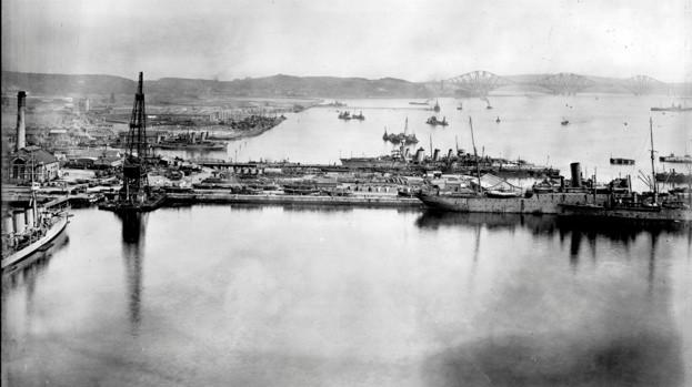 Rosyth dockyard circa 1915
