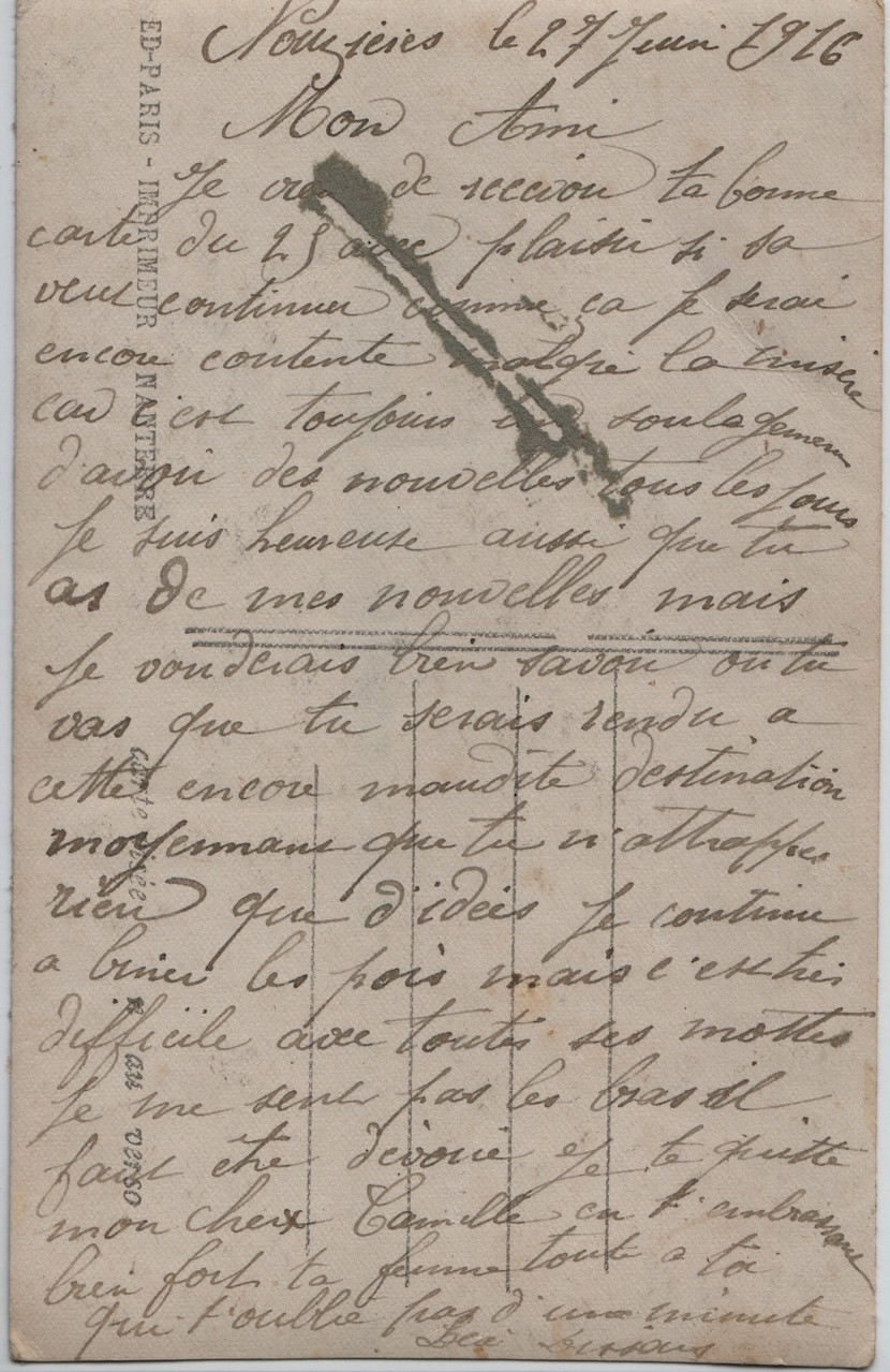 1. Nouzières 27 June 1916