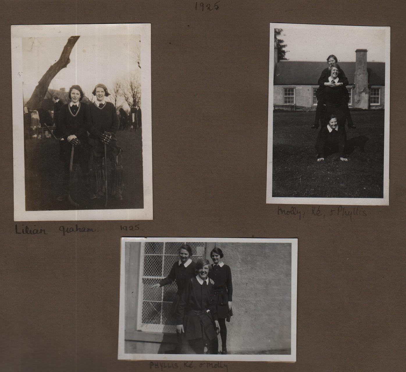 1925: Lilian, Graham; Molly, Ke, Phyllis; Phyllis, Ke, Molly