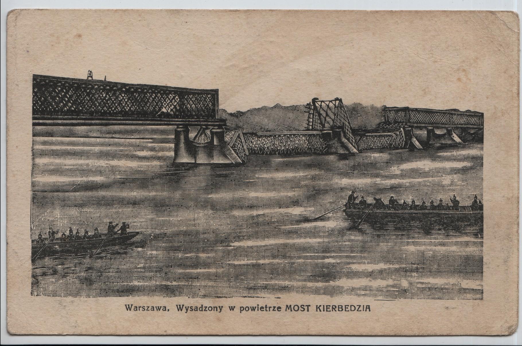 3. Warsaw: the Kierbedzia bridge blown up