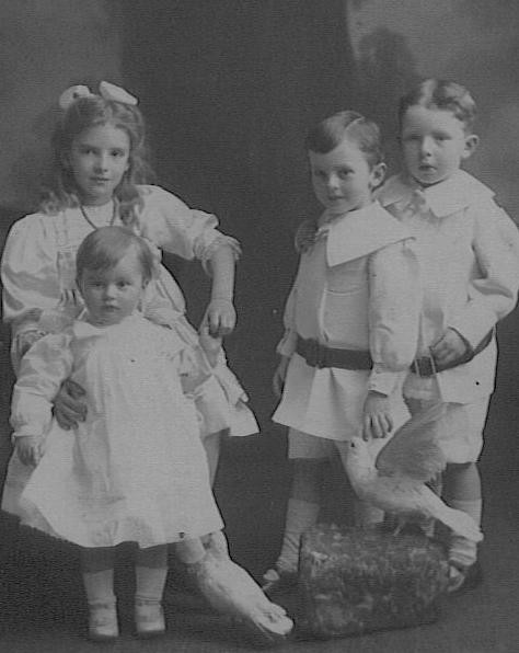 The children of Alfred and Cecile circa 1912