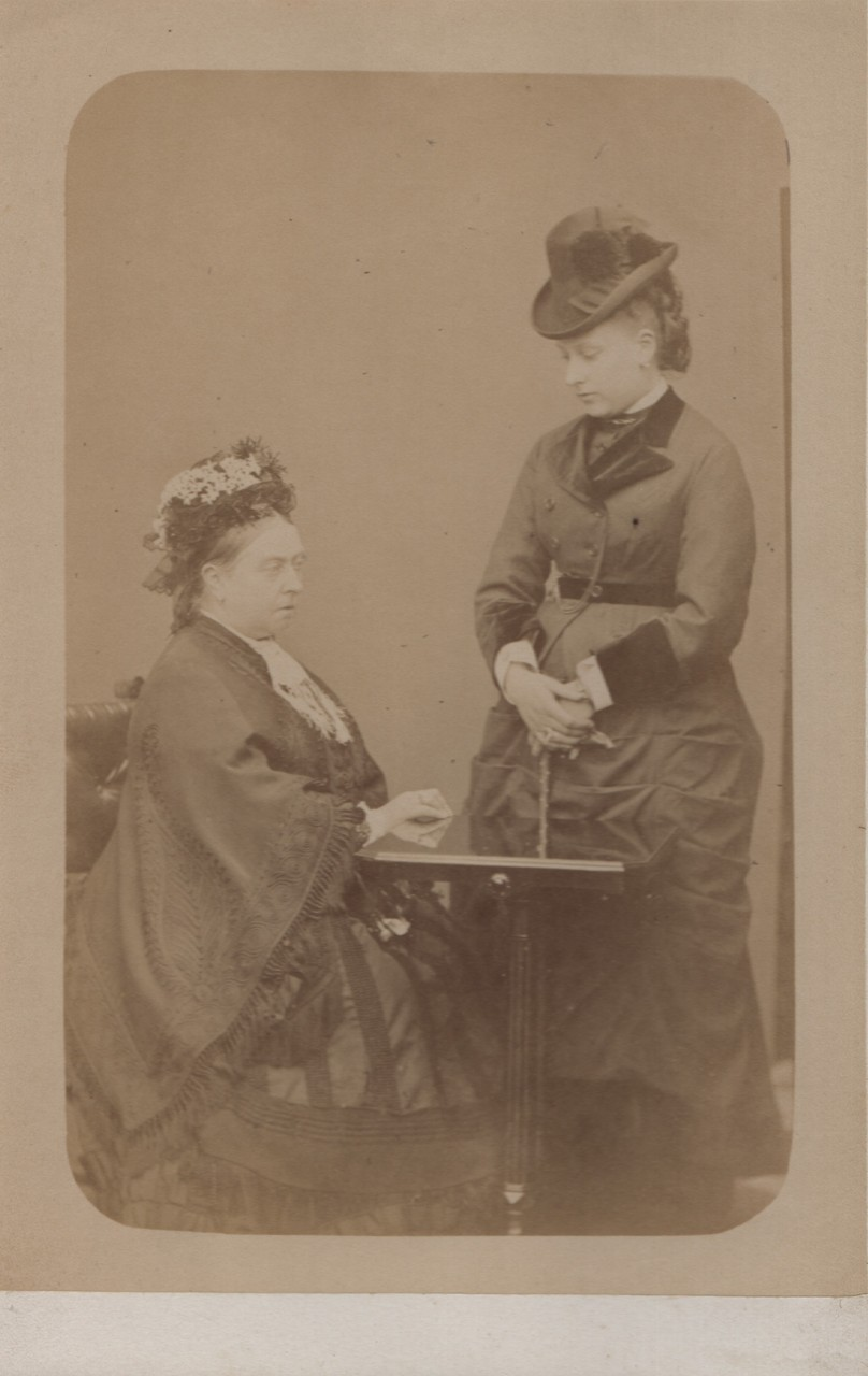 Queen Victoria and Princess Beatrice Autumn 1876