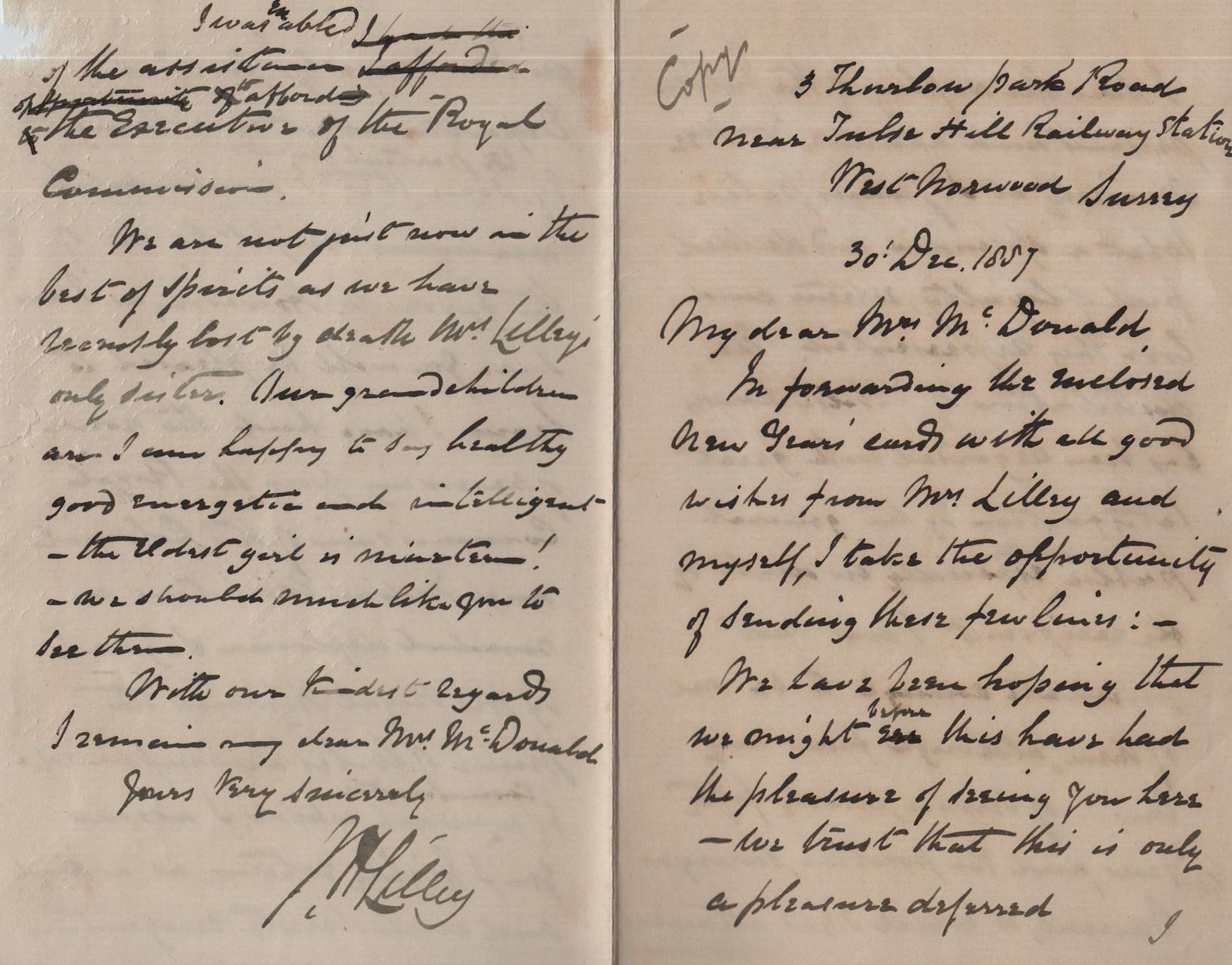 1887 December 30th JHL to AMcD