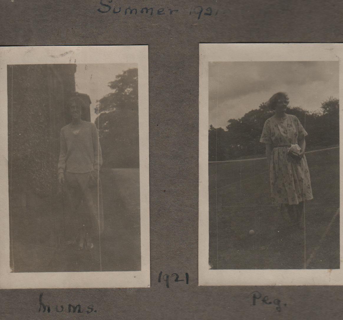 Summer 1921: Mums; Peg
