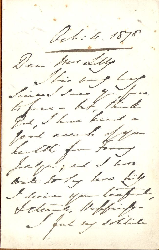 Letter from Lord Shaftesbury (page1 )