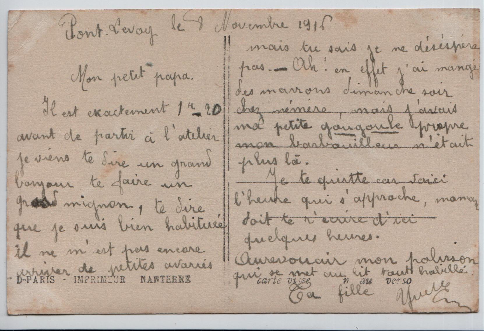 1. Pont-Levoy 8 November 1916