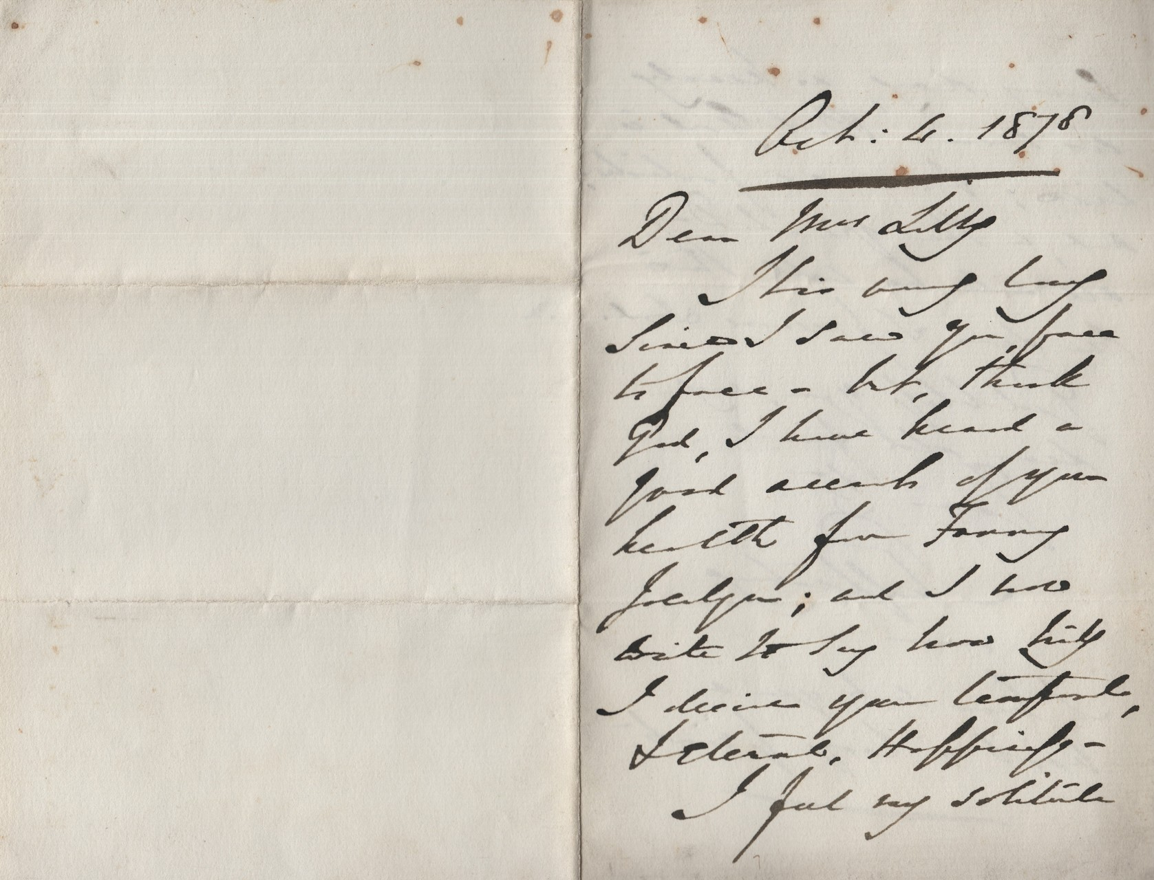 1878 Lord Shaftesbury to MDL