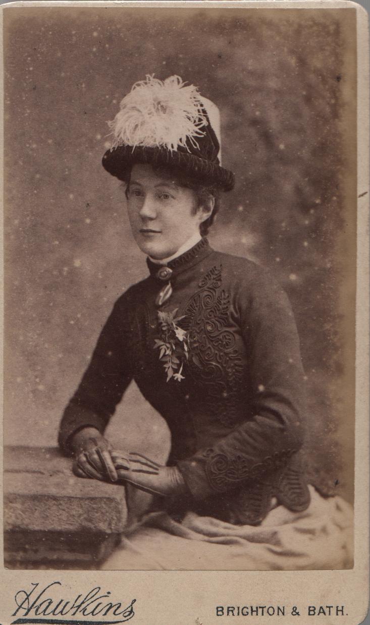 'F A Hodson Sep 1885' - Flora Amelia