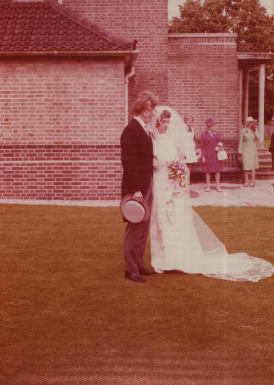 John Ryder & Valerie at Grange Park 29.9.1973