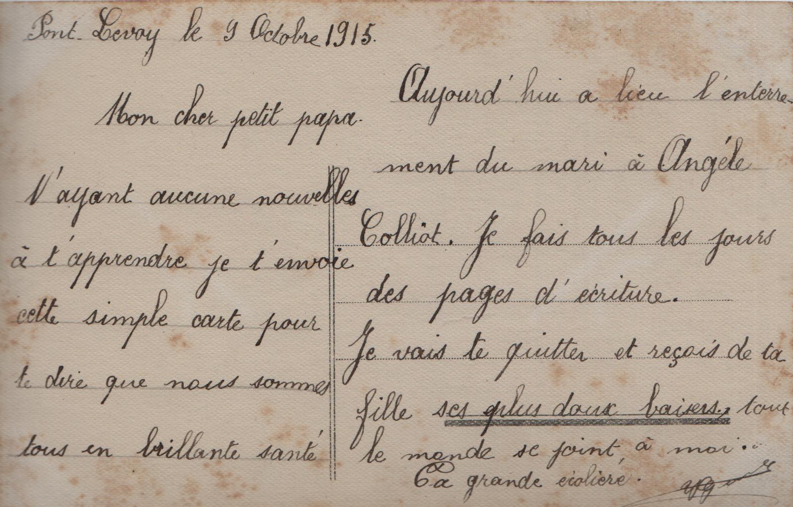 10. 9th Oct. 1915