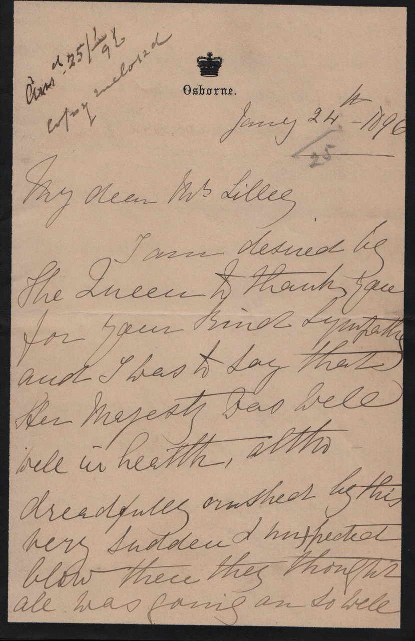 1896 January 24th AMcD to JHL