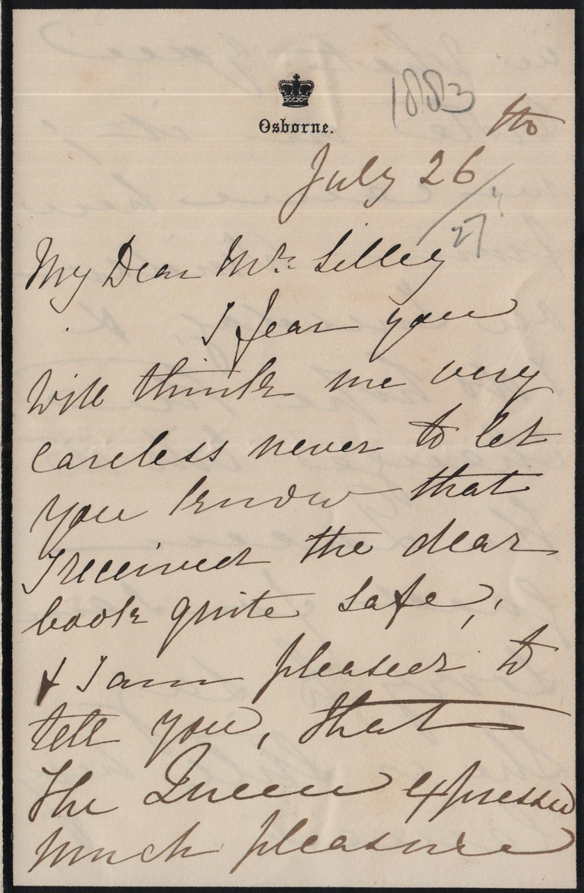 1883 July 26th AMcD to JHL