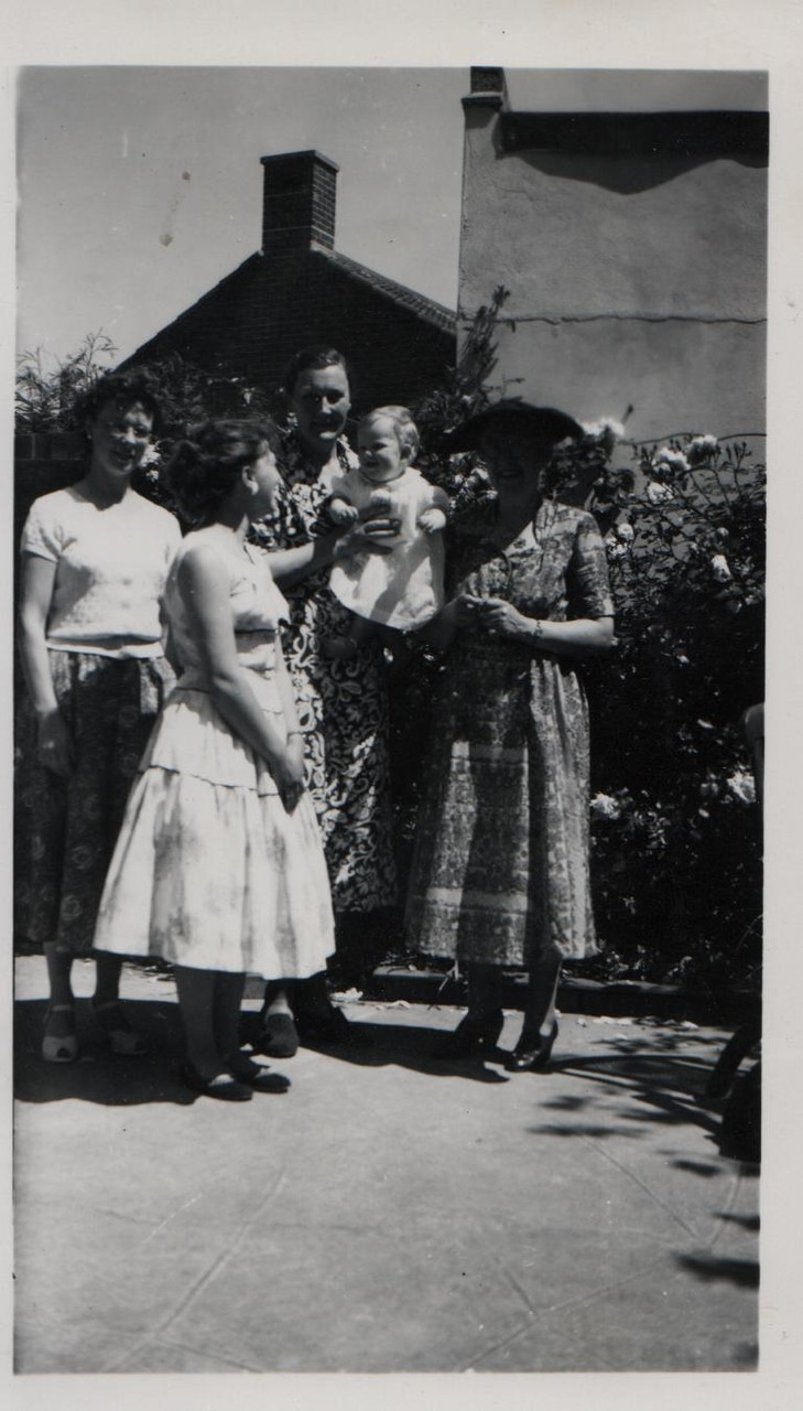 Joan (far left) circa 1960