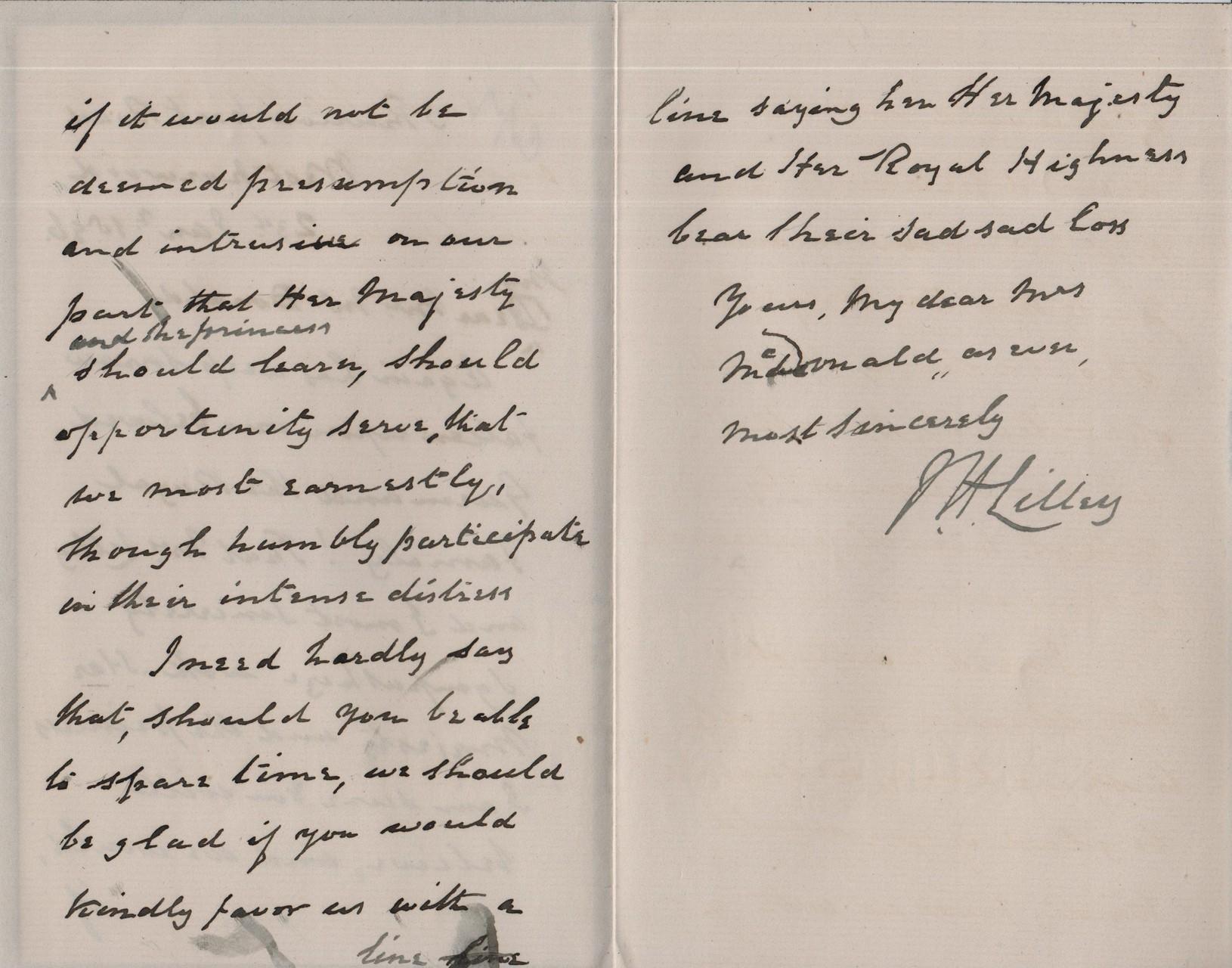 1896 January 23rd JHL to AMcD