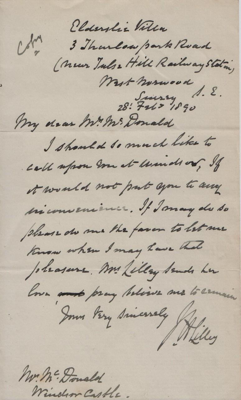 1890 February 28th JHL to AMcD
