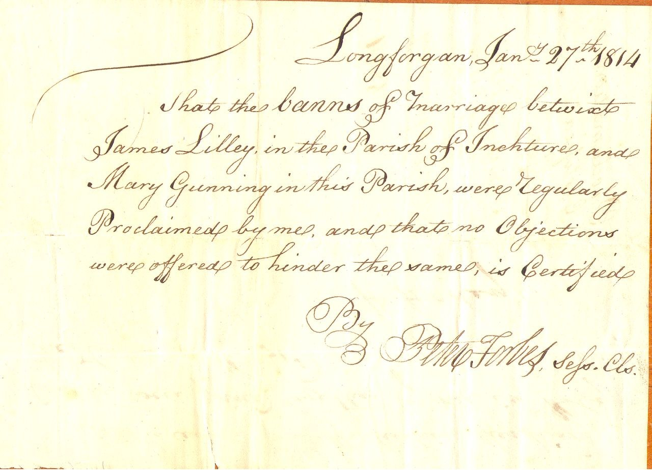 1814 marriage certificate