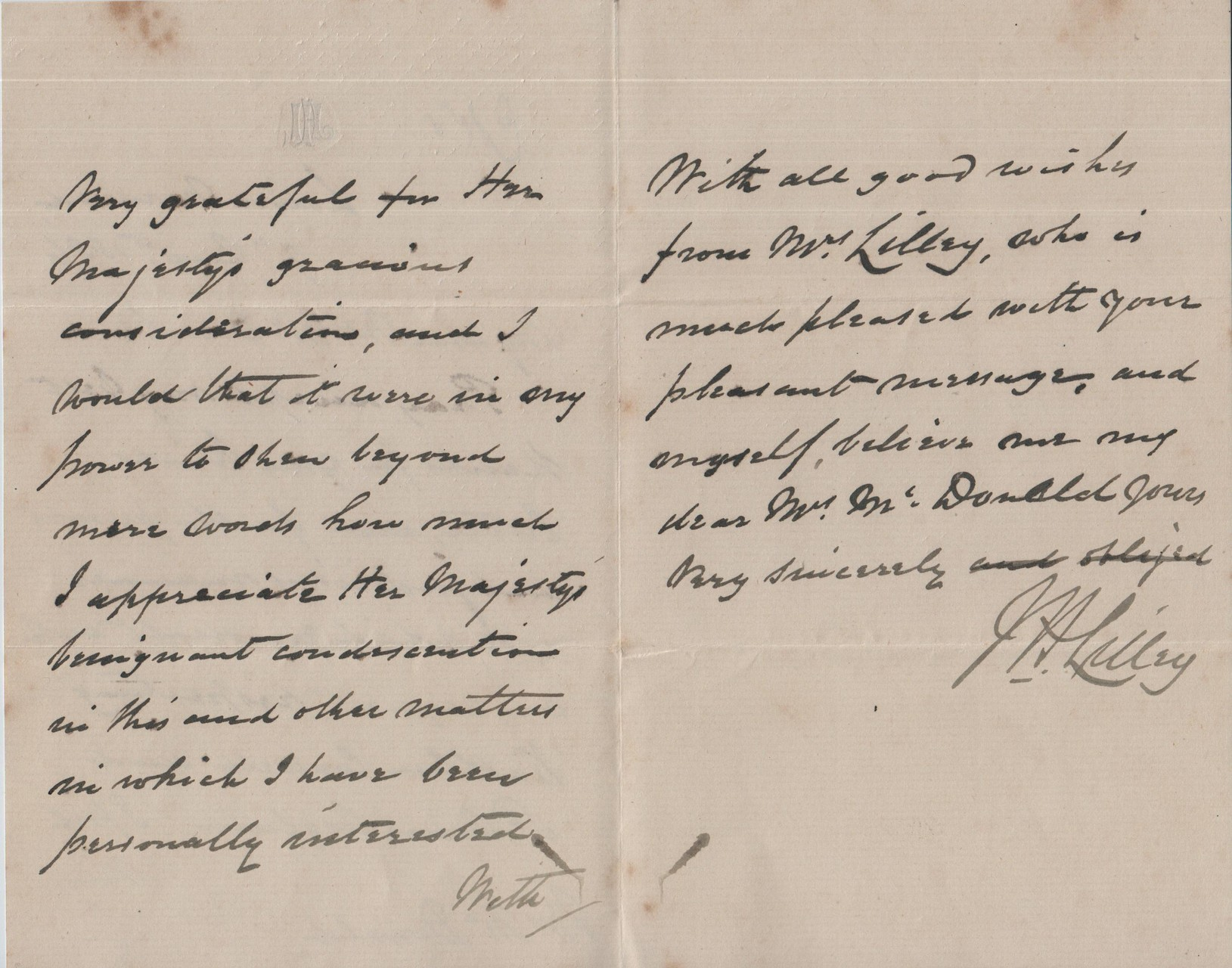 1886 August 7th JHL to AMcD