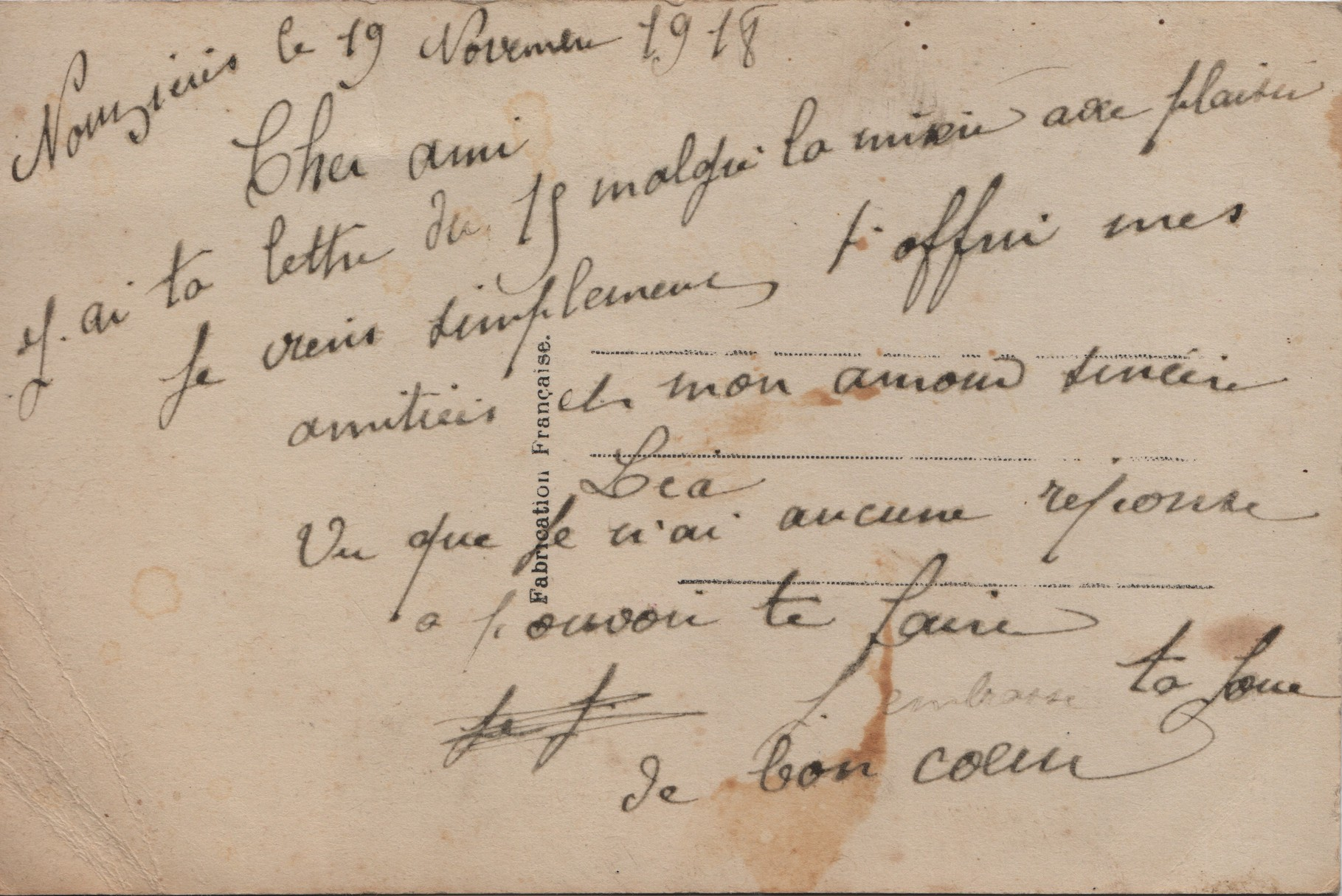 5. Nouzières 19 November 1918