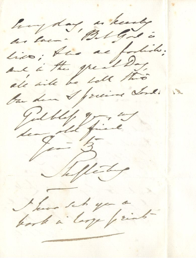 Letter from  Lord Shaftesbury (page2)