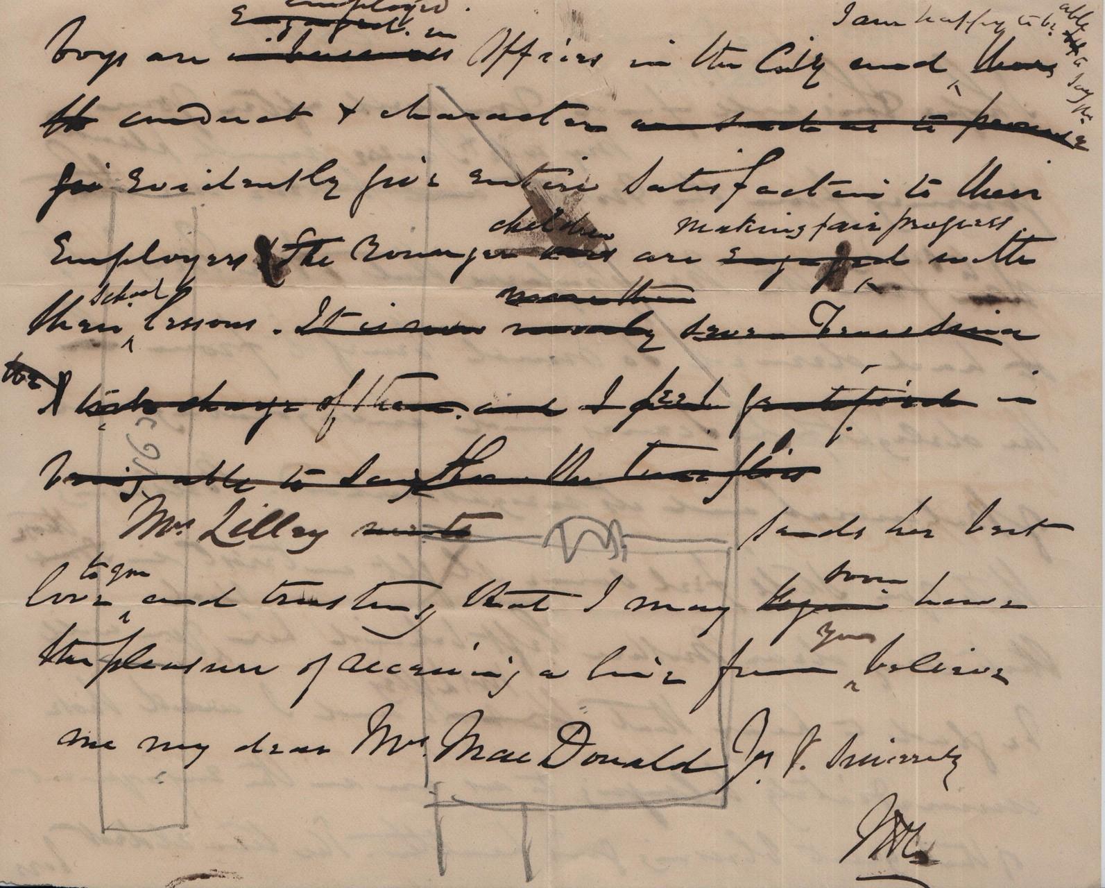 1883 November 23rd JHL to AMcD